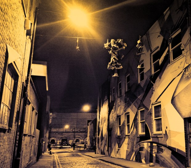 Chance Street in Shoreditch, cropped and with a filter added
