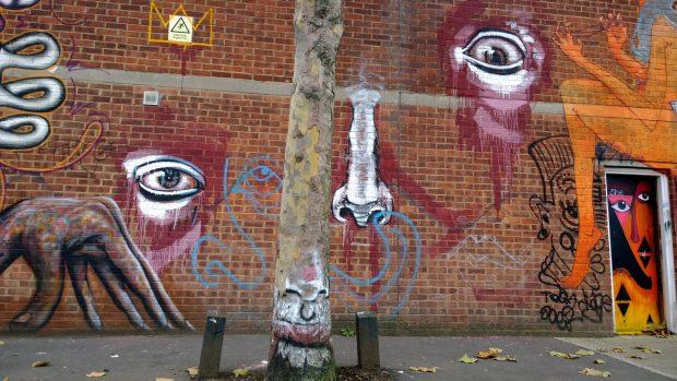 Josh Jeavons street art on Bream Street