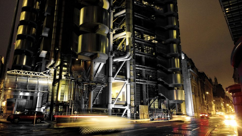 The Lloyds Building in the City I used a long exposure and then took some of the colour out