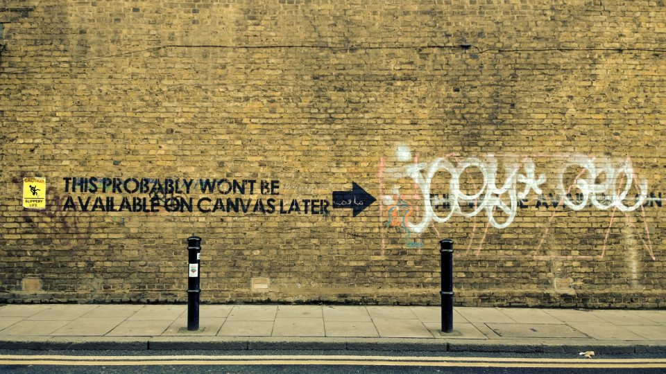 Classic piece from Mobstr on Hanbury Street.  A filter has been applied