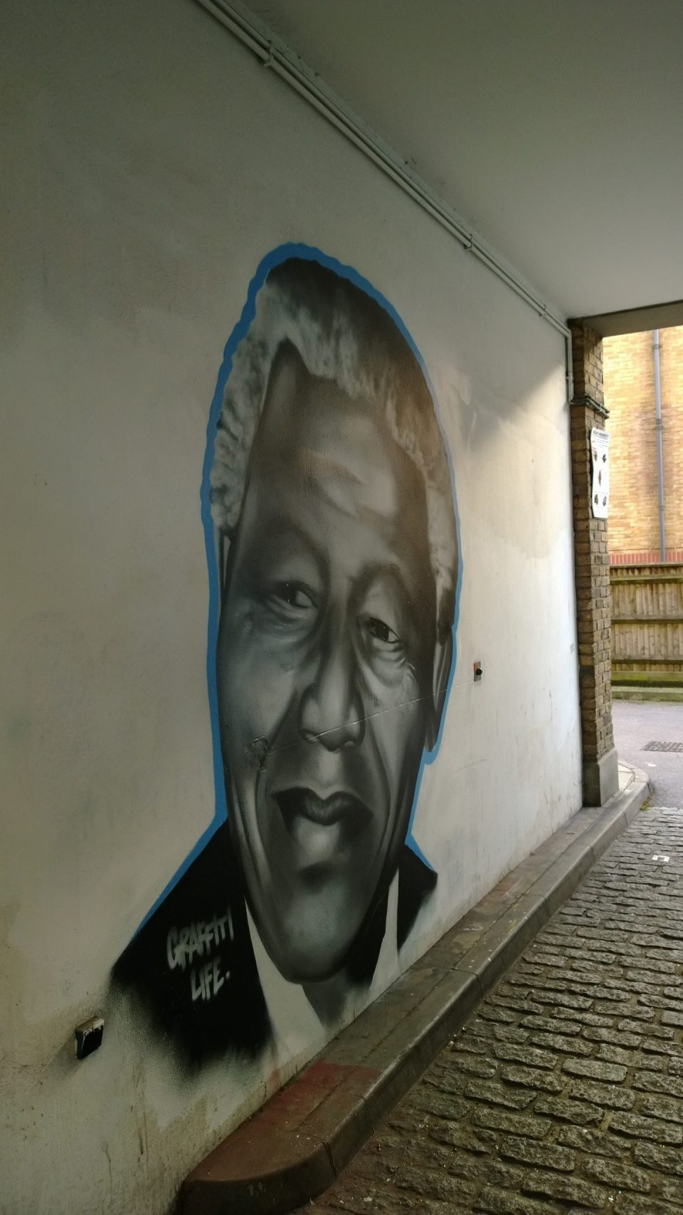 This portrait by Graffiti could be found on Cheshire Street in London
