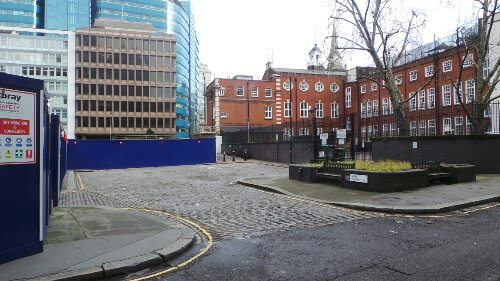Mitre Square just inside the jurisdiction of the City of London was where Catherine Eddowes was killed