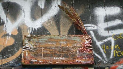 Wooden sculpture on Fournier Street