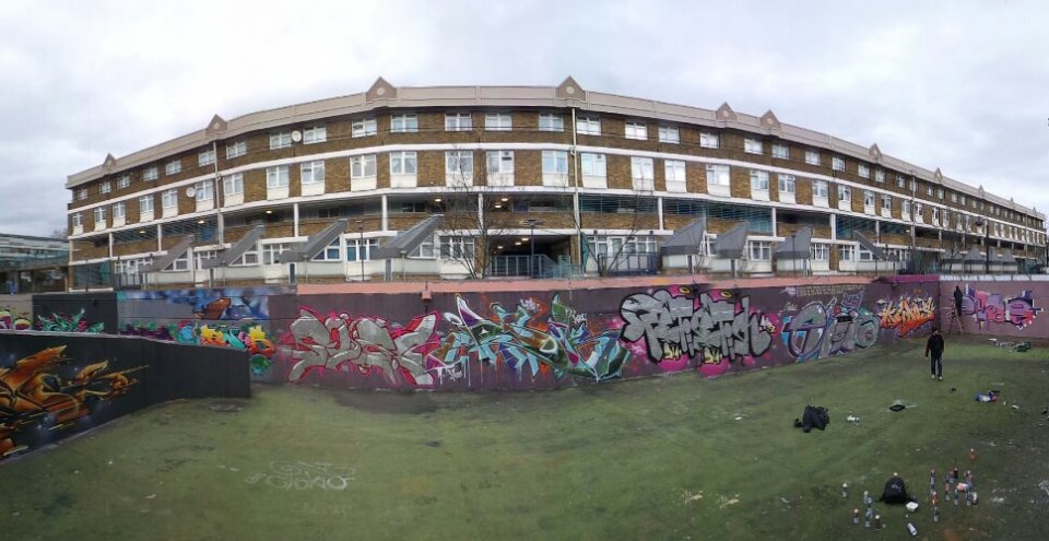 The Stockwell Hall of Fame is a legal spot where anyone can paint