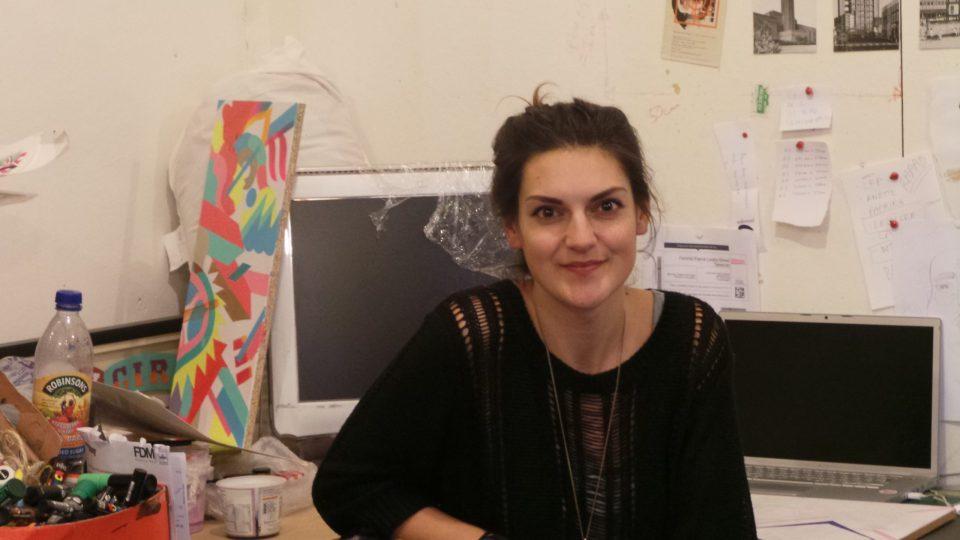 Lana at her studio in Stoke Newington