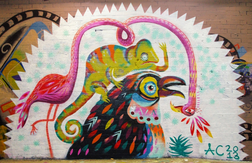 Tropical Mural by Animaux Circus