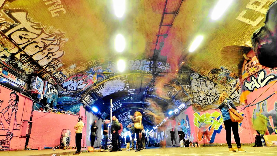 The whole tunnel became a blitz of colour