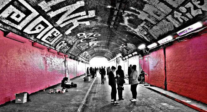 Leake Street, home to the Femme Fierce festival