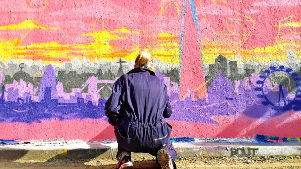 Akit painted the South Bank