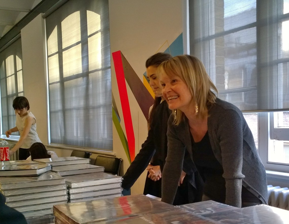 Ingrid Beazley at the launch of her book Street Art Fine Art