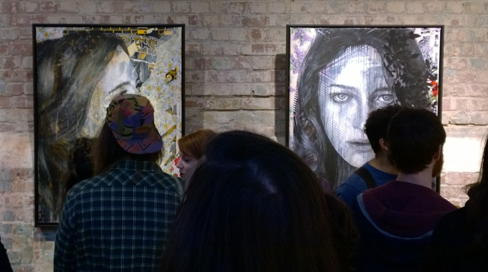 Australian artist RONE visited the city and put on a show at the Stolen Space Gallery