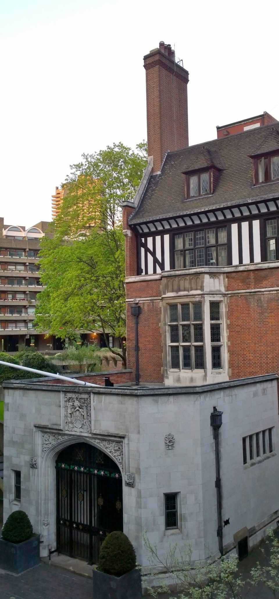 The Ironmongers Hall, an unexpected sight amongst the confines of the Barbican