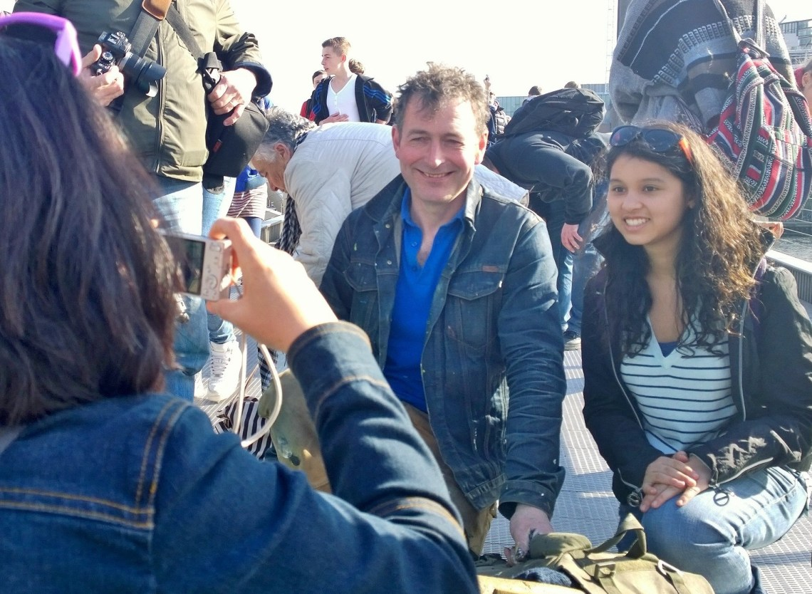 Ben Wilson has been a popular sight on the millenium bridge