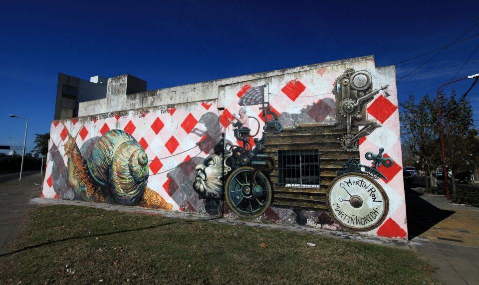 El Carromato Superstar Mural in Buenos Aires