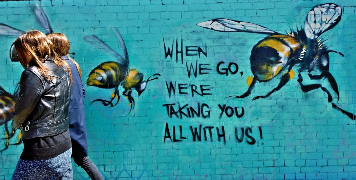 When we go we're taking you all with us - Save the Bees Mural