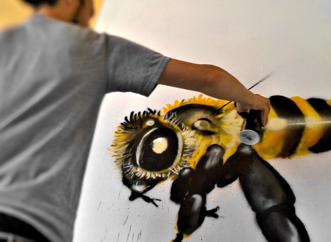 Masai live painting at Rockwell House