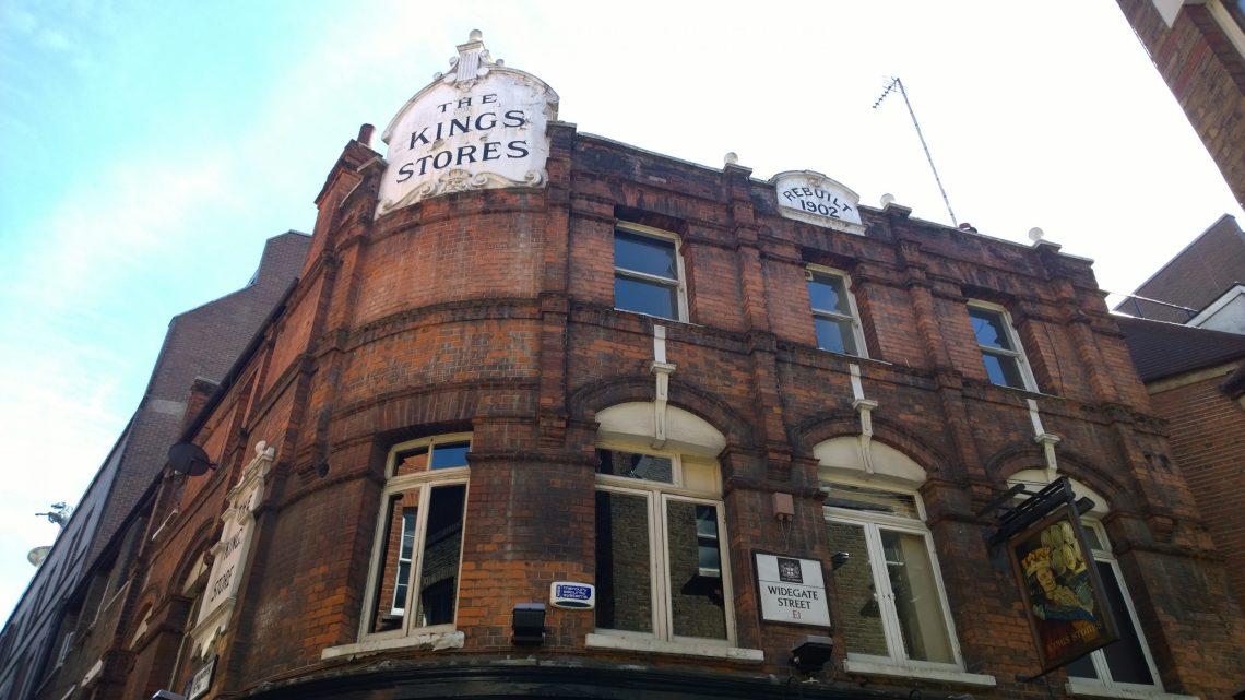 The Kings Stores Pub on Widegate Street in Spitalfields