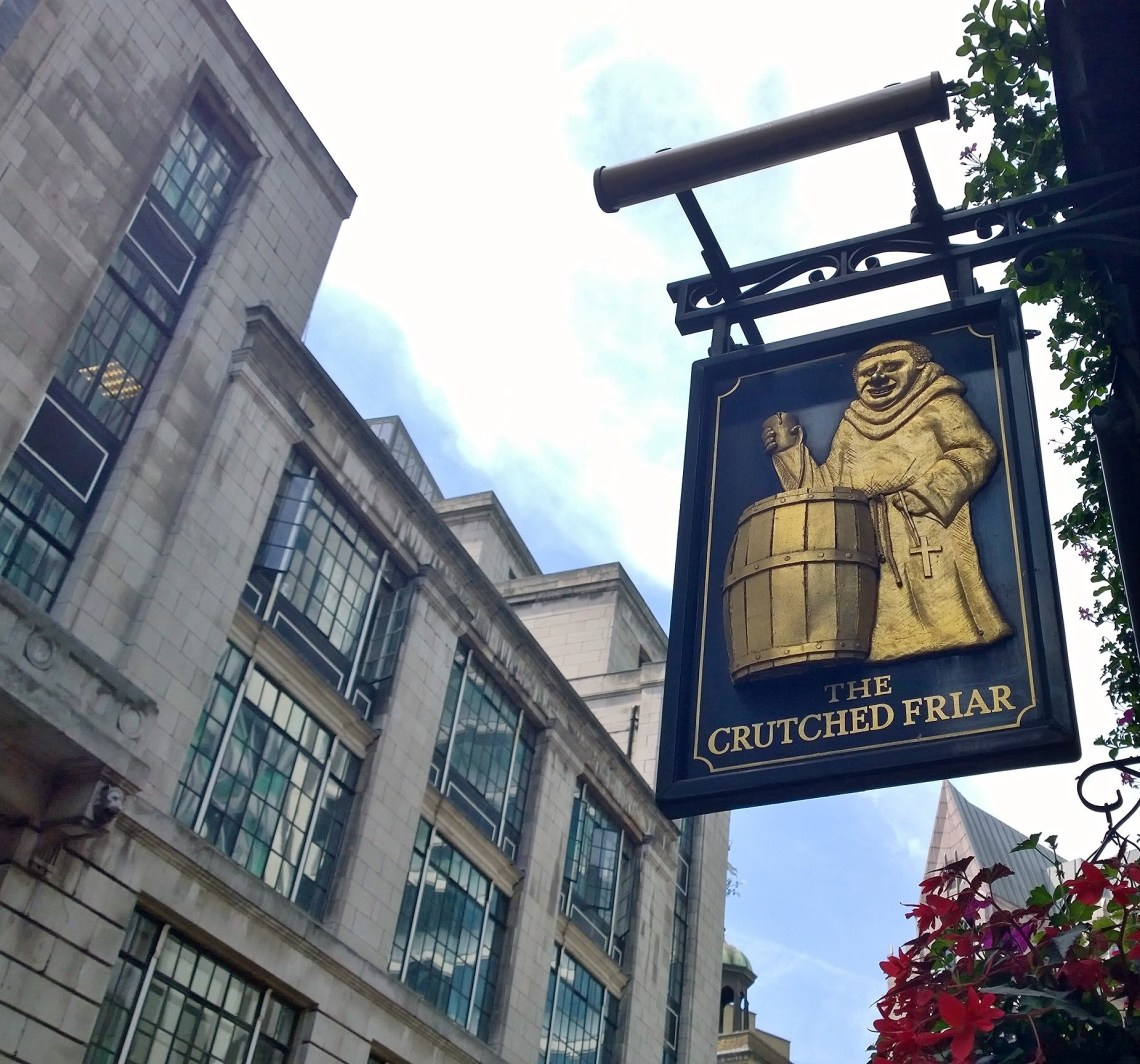 A pub on Crutched Friars on the road now known as Crutched Friars