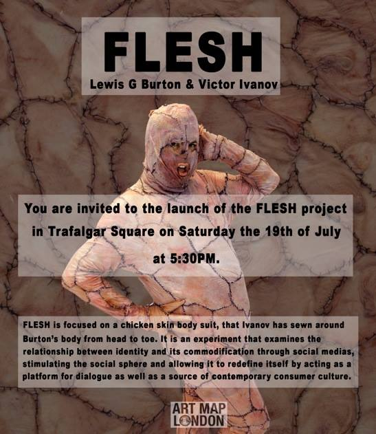 Flesh will be a live event in Trafalgar Square from 5.30pm on Saturday 19 JUly