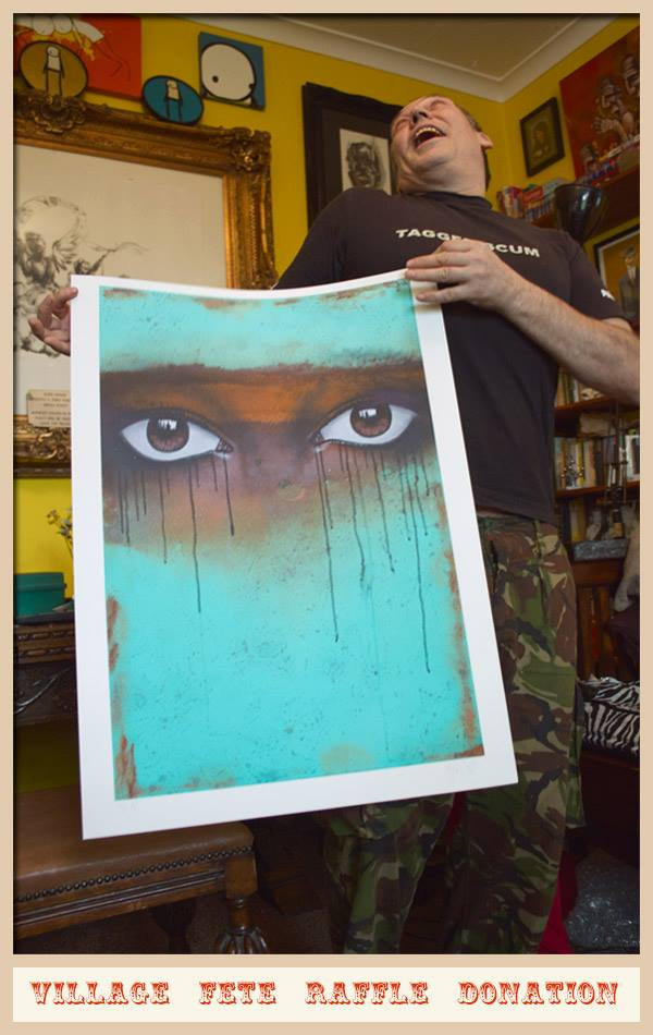 AK47 holding a print from My Dog Sighs