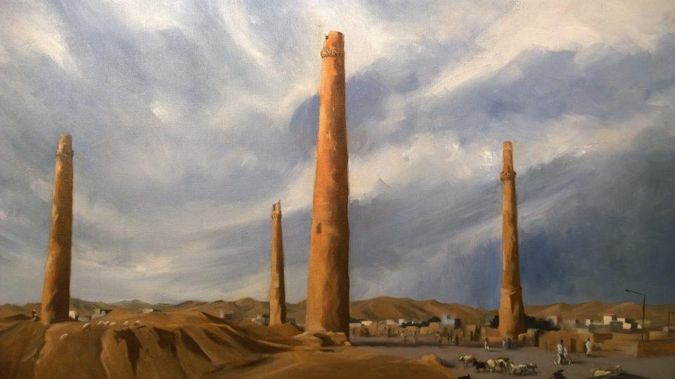 The Minarets of Herat painted by Arabella Dorman