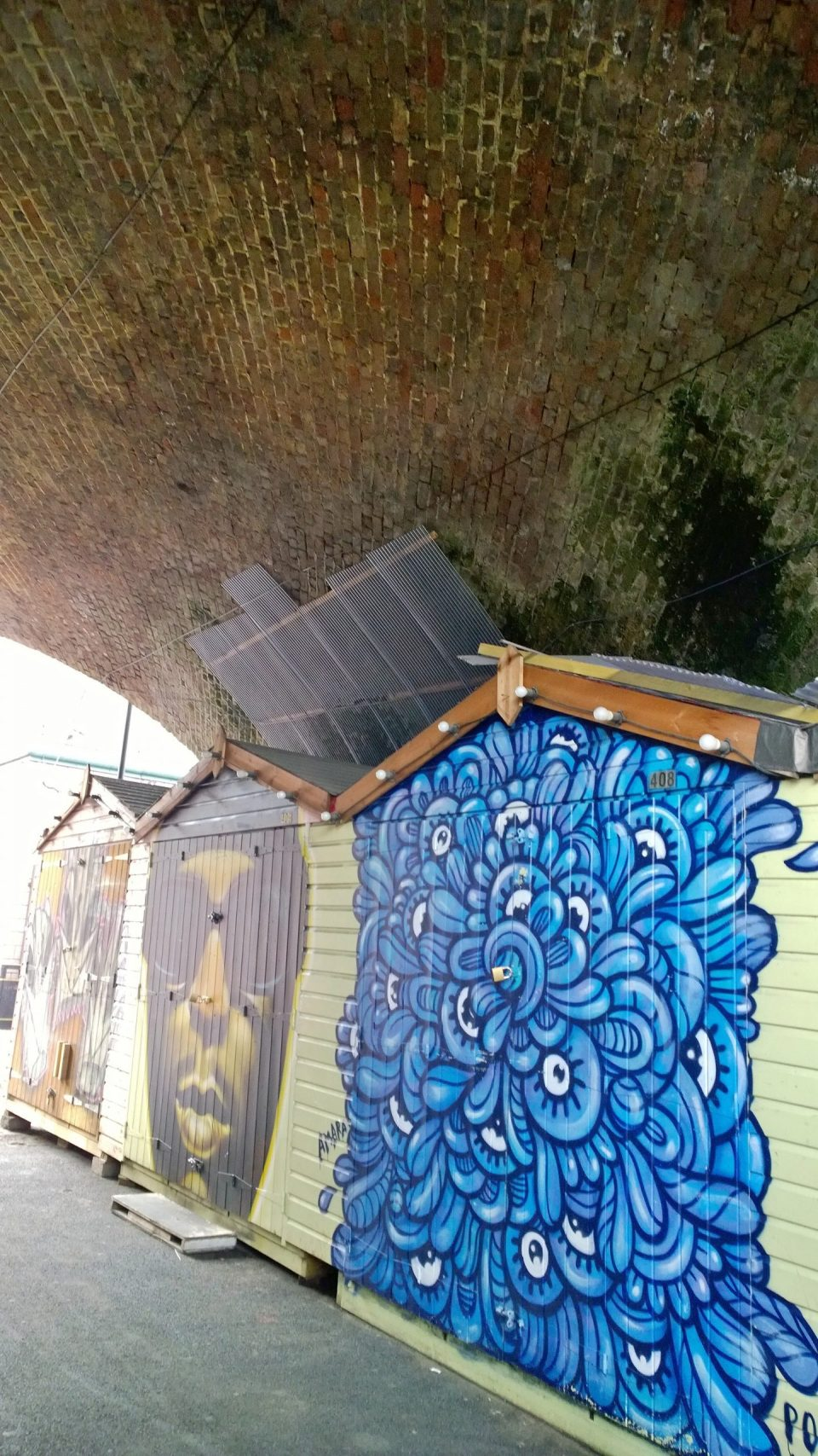 A painted shed at Camden Market