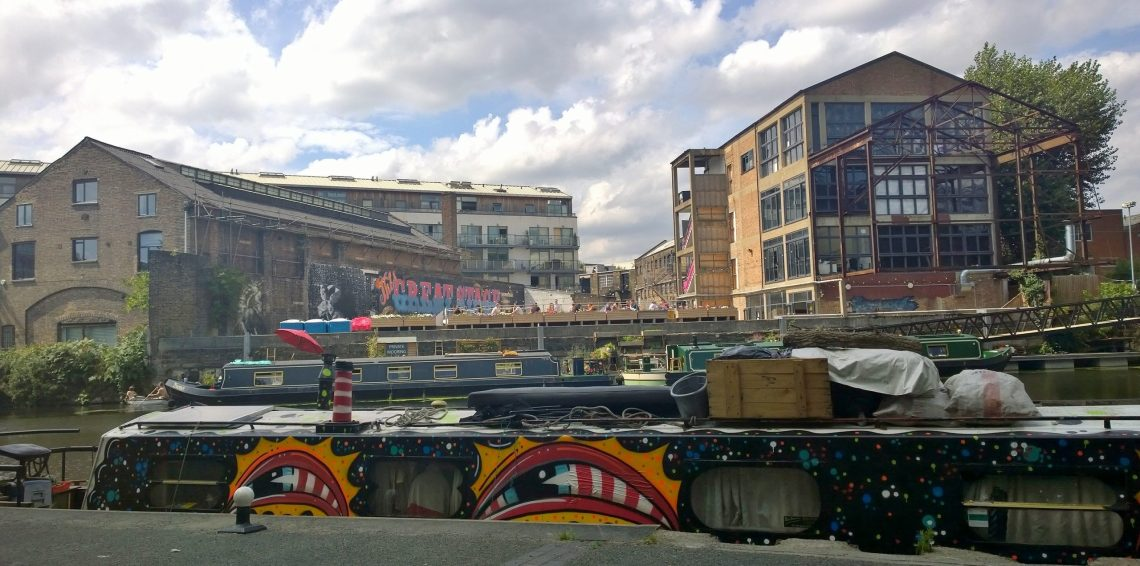 This narrow boat became a floating art canvas for Paul Insect