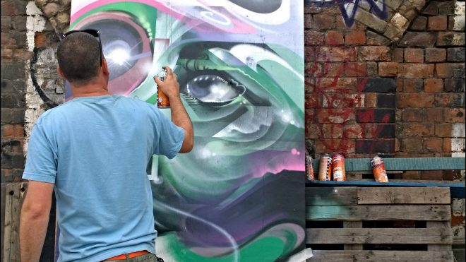 Mr Cenz in action at Scalter Street Stalls earlier in the year