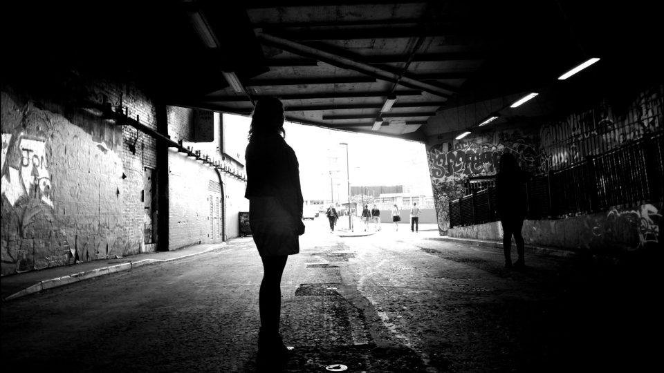 Sabina in the Leake Street Tunnel