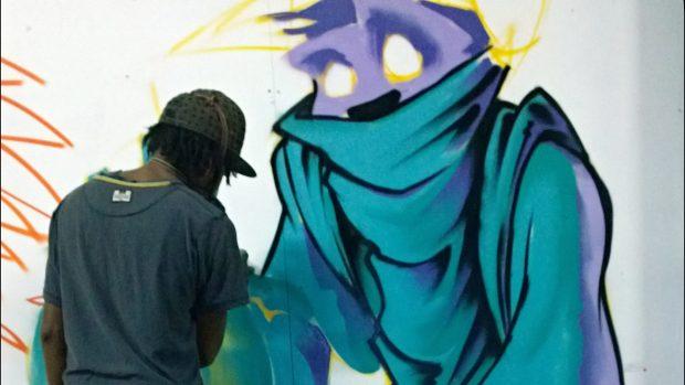 Jeba painting for #talkingpeace