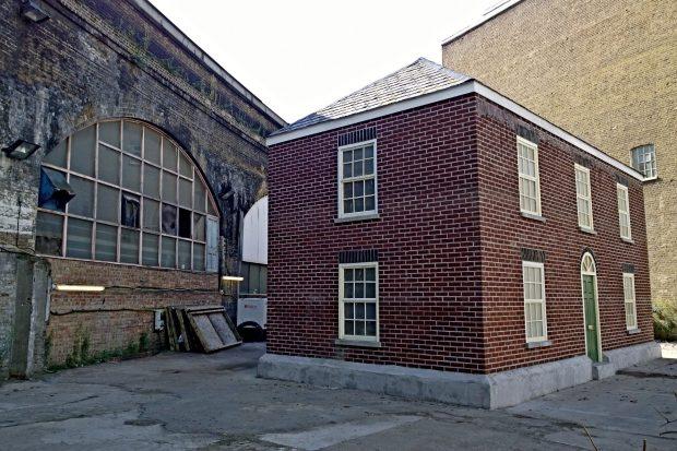 A house made of 8000 wax bricks