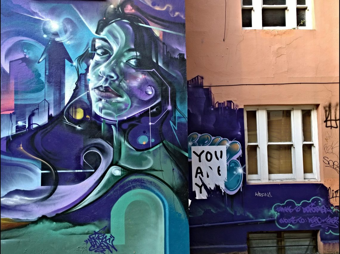 Mr Cenz art on Whitby Street in Shoreditch