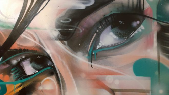 Mr Cenz art at the Pure Evil Gallery