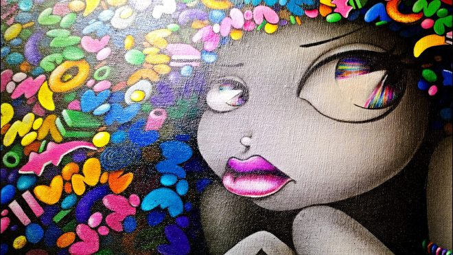 The always popular female cartoon characters drawn by Vinie Graffiti