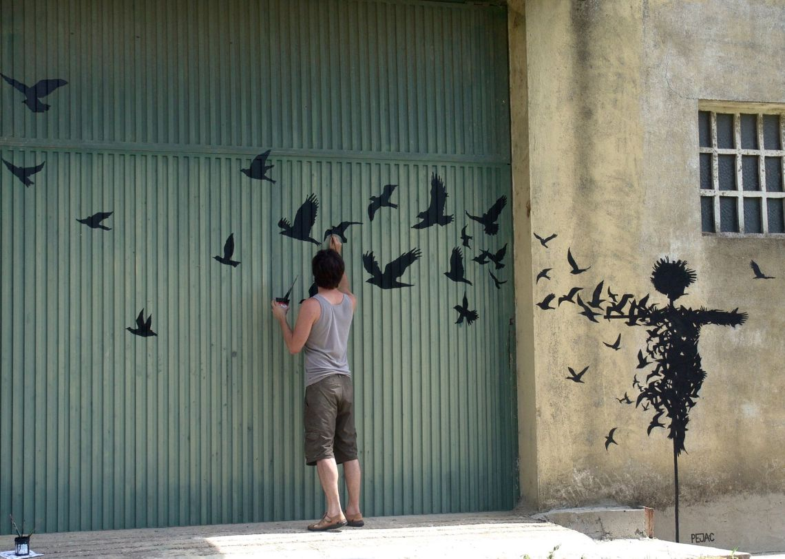 Street Art by Pejac in Salamanca, Spain taken from Street Art Utopia