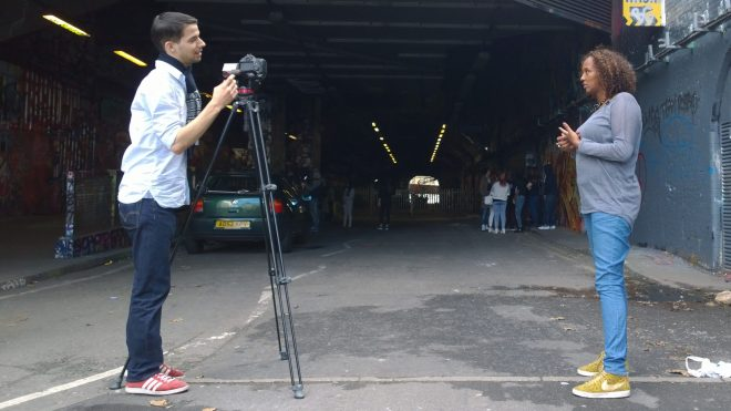 Filming with official film-maker Daniel Lucas from Lazy eye productions