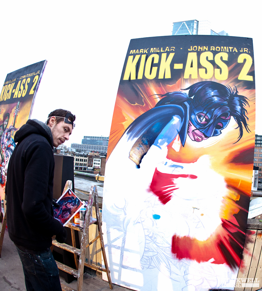 Promoting Kick Ass 2 with live painting