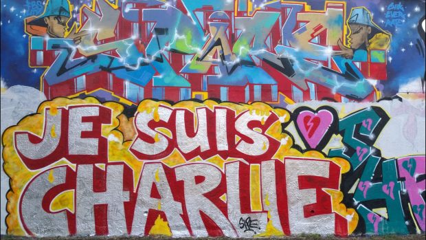 Je Suis Charlie at the Trellick Tower