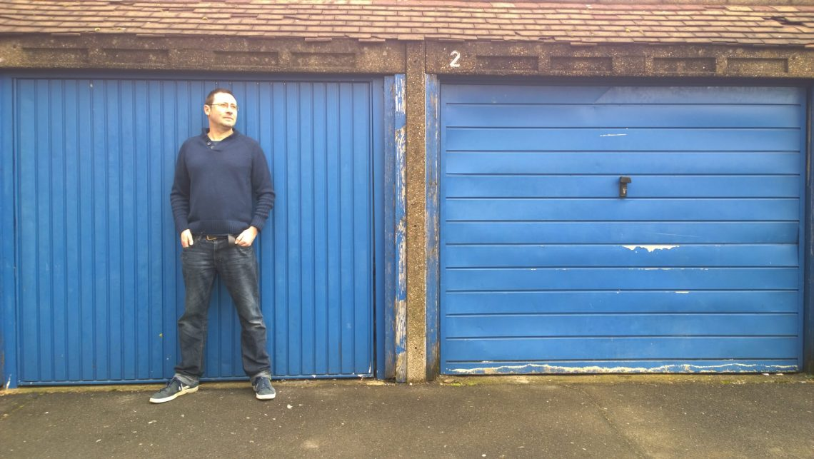 Sams studio is a modest garage in Merton where he prepares a lot of his work