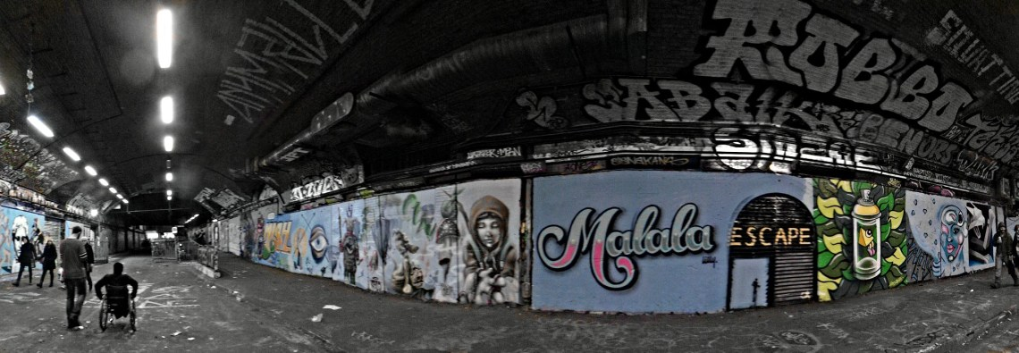 The Leake Street Tunnel painted during Femme Fierce