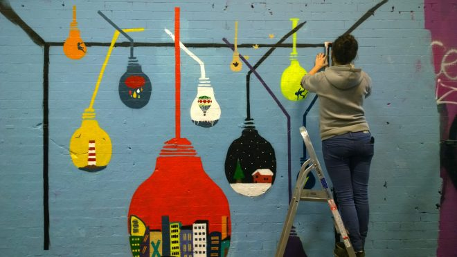 Float's colourful hanging baubles