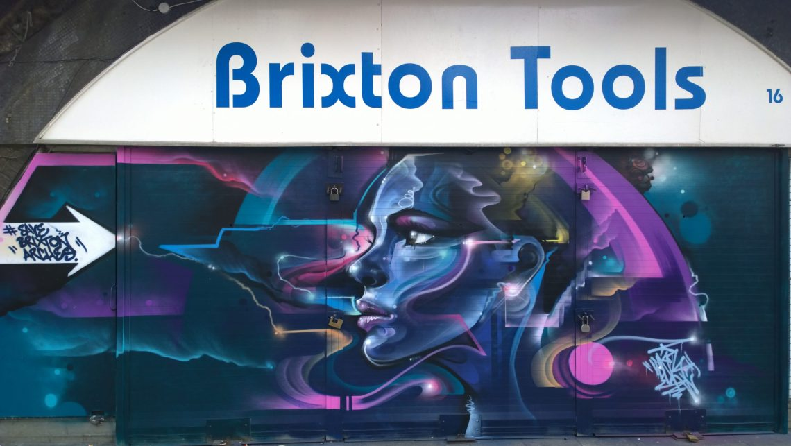 Mr. Cenz has added his style to the shutter of 'Brixton Tools'
