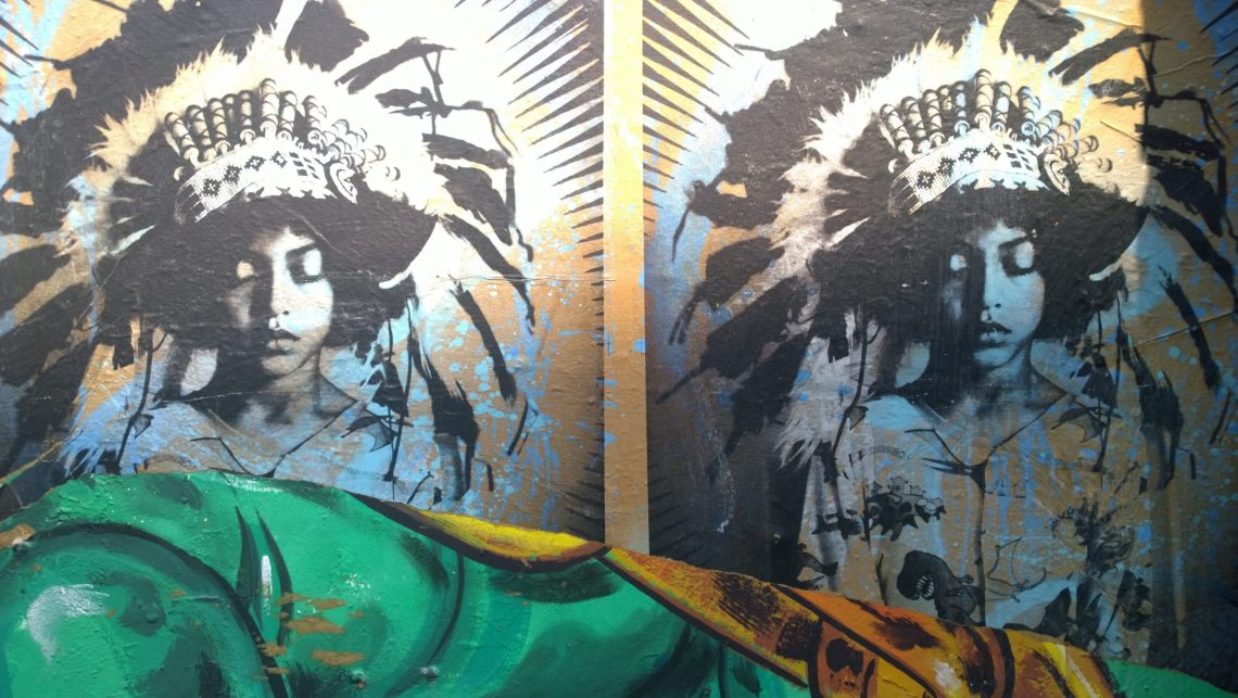 Two more B Brave images on Hanbury Street by Donk