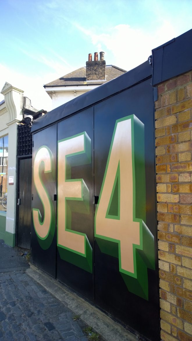 SE4 piece by Lionel Stanhope on Harefield Road