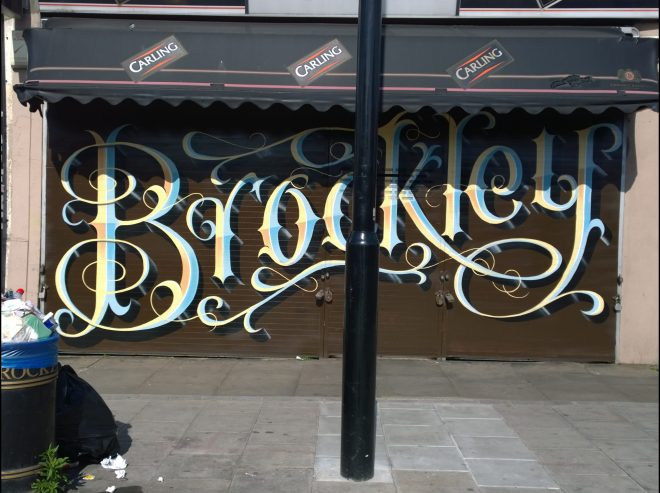 Brockley lettering not sure who the artist is with this one