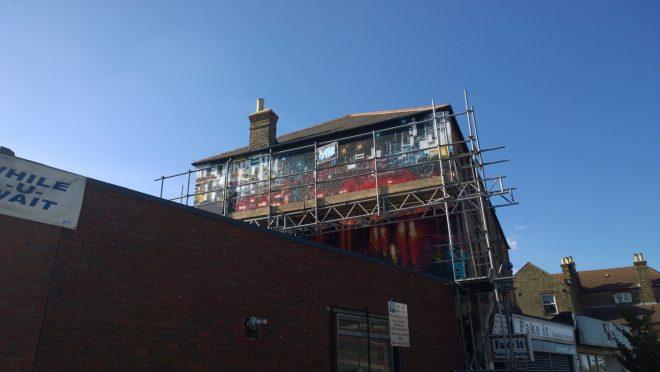 Dan Kitchener mural on Brockley Rise