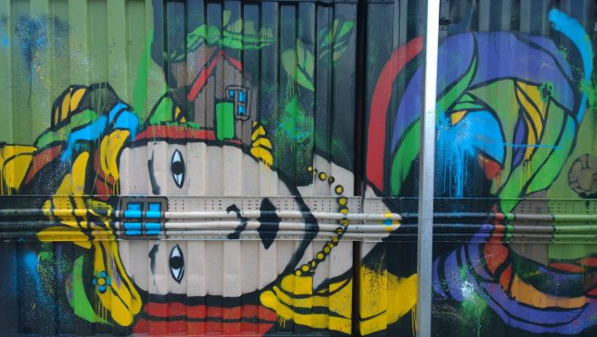 Deco's finished piece in Brixton