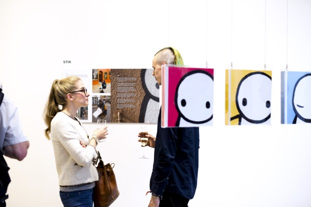 The front covers of Stik's books
