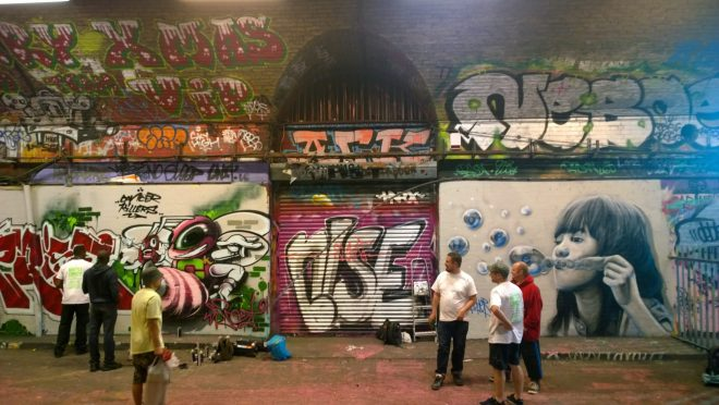 The tunnel always looks so different with many artists visiting each day.