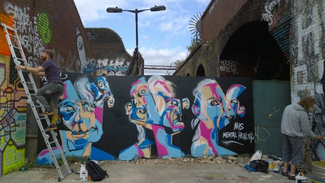 Neoh drawing attention to Mental Health issues at the Meeting of Styles